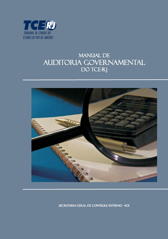 Capa do manual de auditoria governamental do TCE-RJ